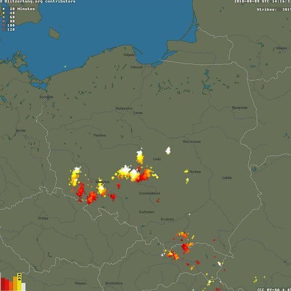 Front burzowy nad zachodnią Polską