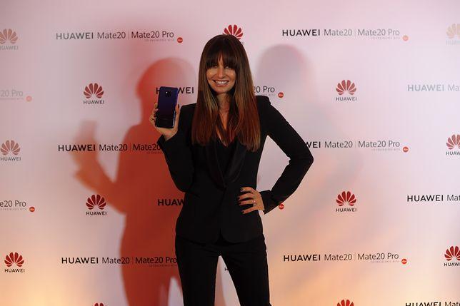 Anna Lewandowska podczas ogłoszenia jej współpracy z marką Huawei