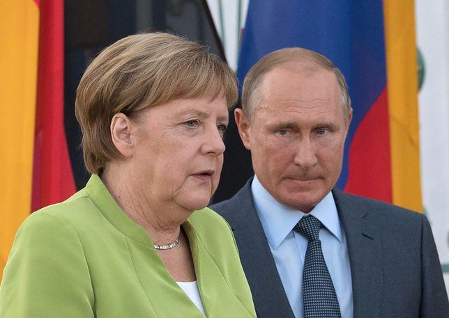 Putin rozmawia z Merkel o Nordstream 2