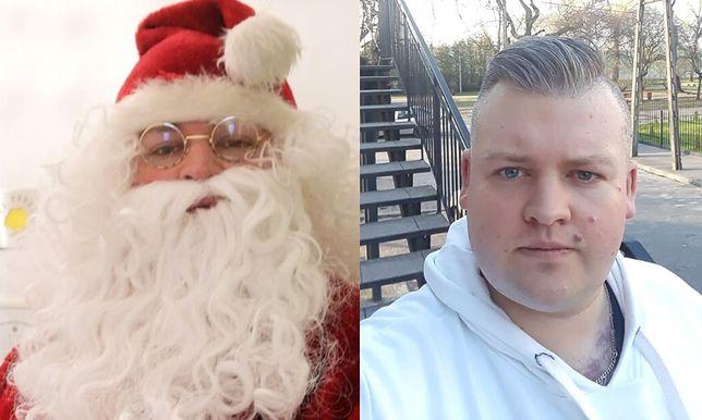 Maciej pracuje jako św. Mikołaj