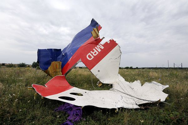 Szczątki malezyjskiego samolotu, który rozbił się na Ukrainie