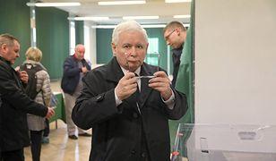 Kaczyński podczas wyborów samorządowych