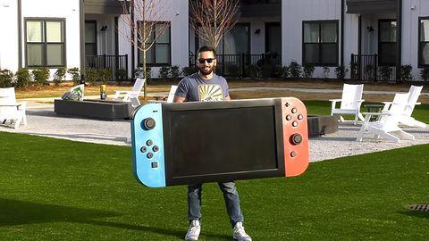 Potwór nie konsola. Zobaczcie największe Nintendo Switch na świecie