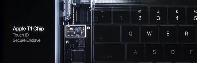 Apple T1: serce Apple Watcha wciśnięte w Maka