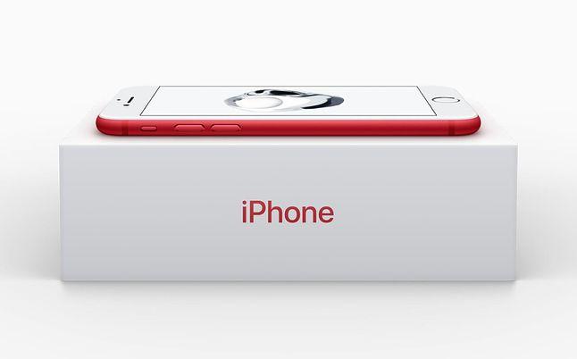 iPhone 7 w wyjątkowej czerwonej wersji.