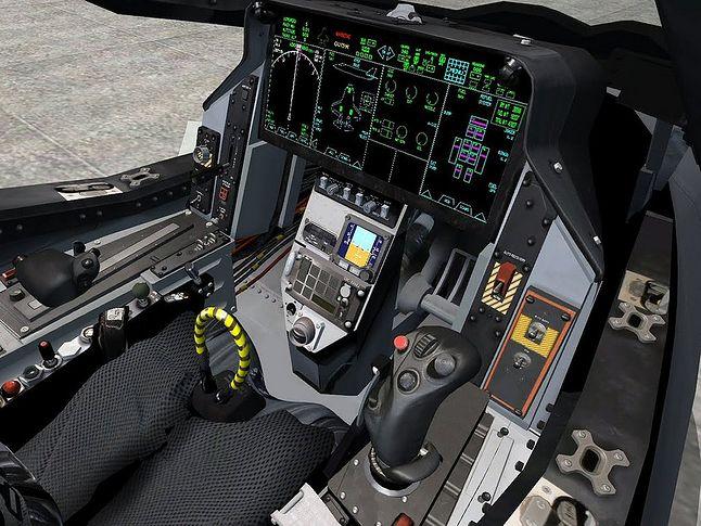 Kokpit myśliwca F-35: instrumenty zupełnie niepodobne do klasycznych myśliwców