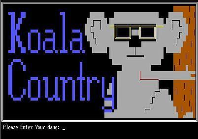 Ekran logowania jednego z BBS-ów na antypodach (źródło: wikimedia)