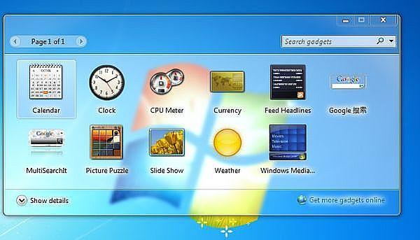 Gadżety w Windows 7