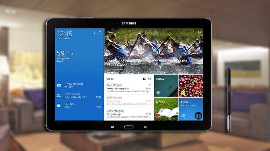Samsung Galaxy Note Pro 12.2 – gigant z Knoxem