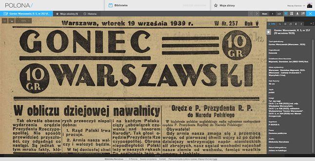 Przegląd prasy sprzed 76 lat