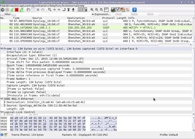 Wireshark: w Kali Linuksie wciąż domyślnie starsza wersja