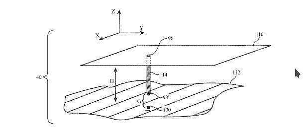 Widok anteny mikropaskowej w rzucie perspektywicznym