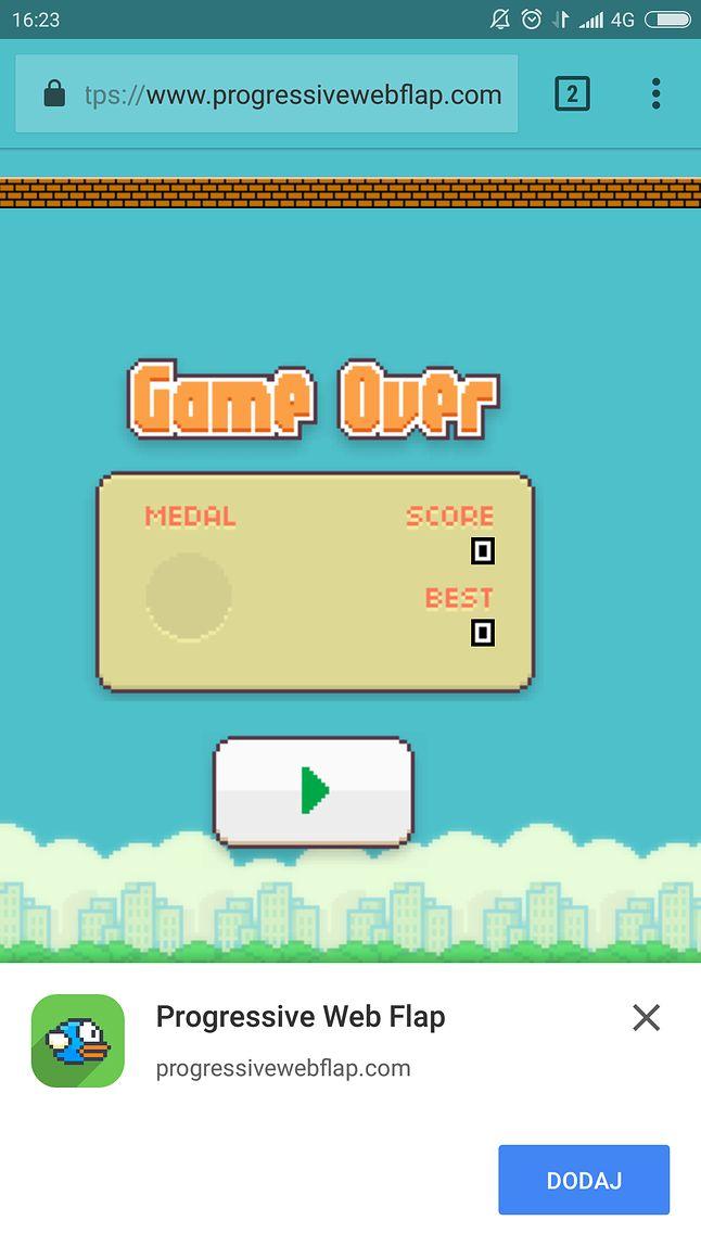 Nie tylko statyczne strony: tu webAPKą próbuje zostać Flappy Bird