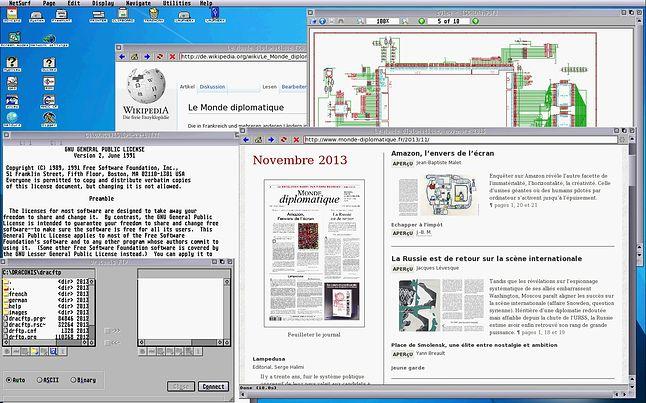 Aplikacje użytkowe FreeMiNT-a (źródło: firebee.org)