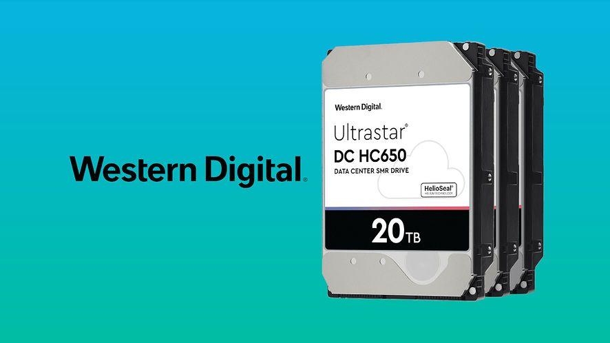 WD Ultrastar DC HC550 i HC650 o pojemnościach 18TB i 20TB.