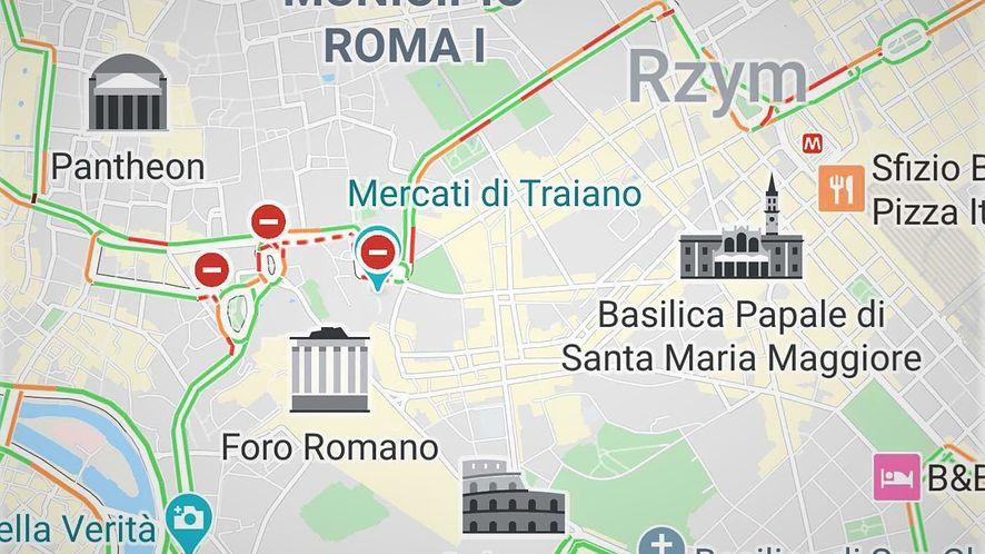 Mapy Google w czytelny sposób pokazują niektóre zabytki, fot. Oskar Ziomek