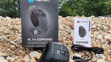 Natec Euphonie — tania i bezprzewodowa mysz wertykalna o szerokim zastosowaniu