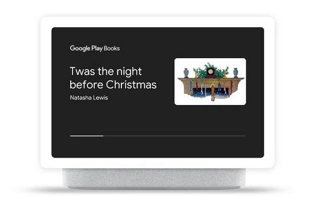 Świąteczna opowieść na ekranie Google Home Hub, źródło: Blog Google.