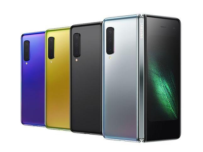 Samsung Galaxy Fold w różnych wariantach kolorystycznych, fot. materiały prasowe.