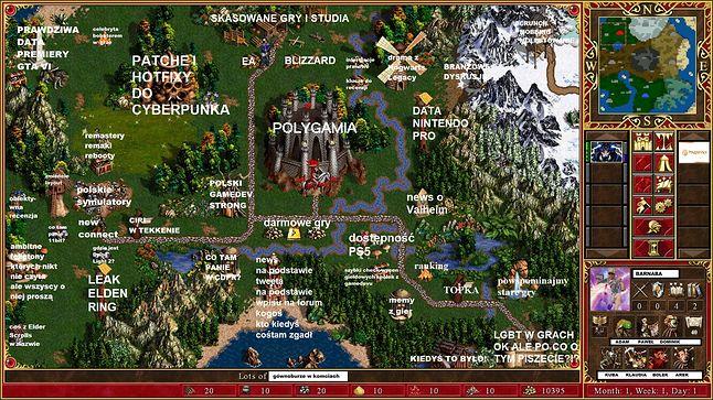 Świat game journo na jednym obrazku