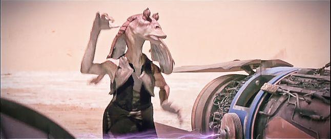 Najbardziej nielubiana postać całej sagi, Jar Jar Binks, fot. YouTube (oficjalny zwiastun filmu)