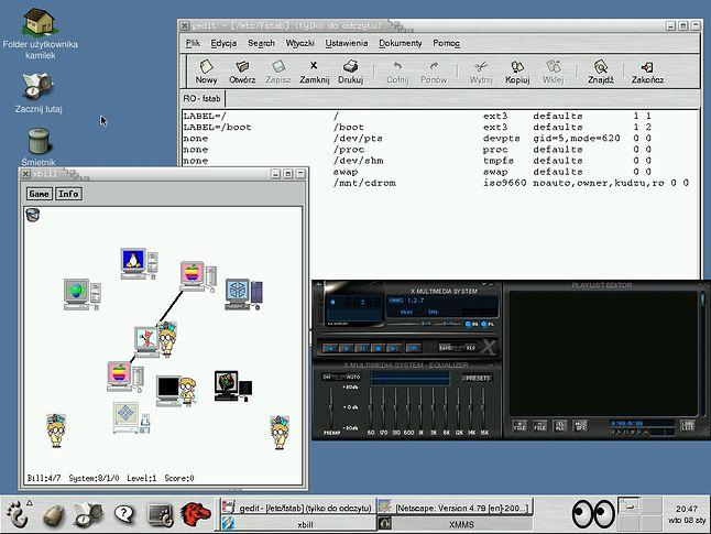 Red Hat Linux 7.3 był systemem o podważalnej estetyce