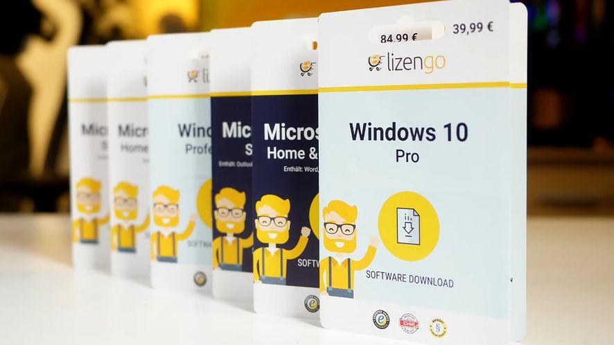 Nielegalne klucze Microsoft Office i Windows w niemieckich supermarketach (fot. YouTube @ lizengo)
