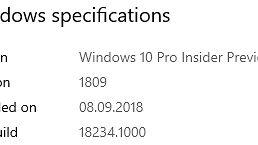 Microsoft wciąż skupia się wyłącznie na detalach, czyli Windows 10 w kompilacjach 18234 oraz 18237