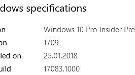 Redstone 4 jest już w zasadzie gotowy do udostępnienia, dlatego też kompilacja 17083 wniosła jedynie drobne szlify