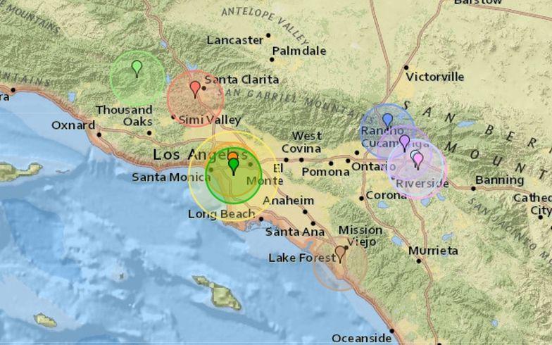 Trzęsienie ziemi w Los Angeles. W jednym z najgorszych regionów