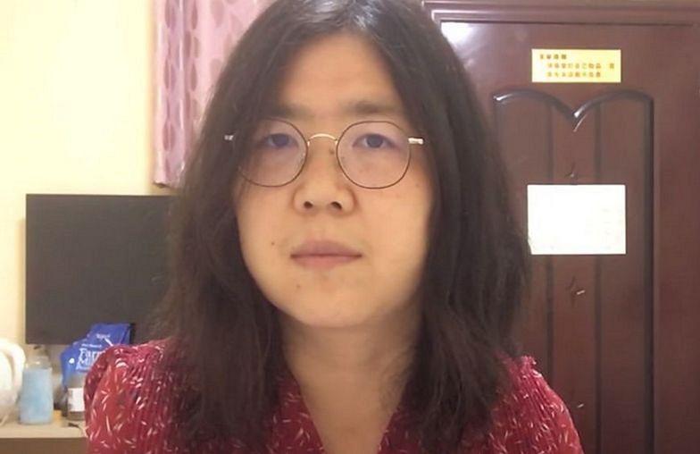 Sąd nie miał litości dla dziennikarki z Wuhan. Wyroku słuchała na wózku