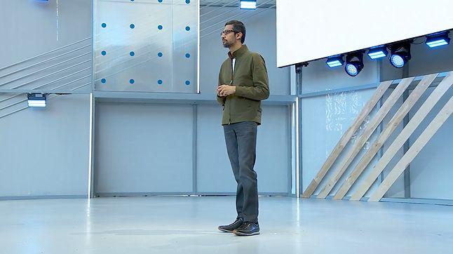 Sundar Pichai, szef Google, podczas inauguracji Google I/O 2018.