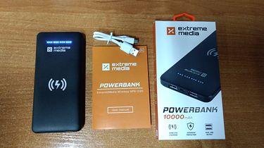 Recenzja pojemnego powerbanka od Extreme Media, wspierającego ładowanie bezprzewodowe!