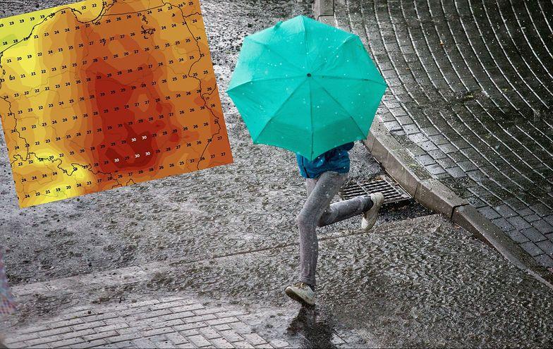 Nie tylko upały. Dziś nad Polską grad, deszcz i porywisty wiatr