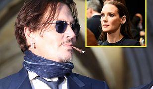 Johnny Depp wspierany przez byłą partnerkę, Winonę Ryder.