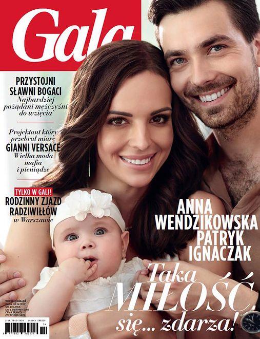 Anna Wendzikowska i Patryk Ignaczak z córką