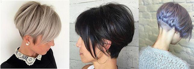 Modne fryzury asymetryczne 2018