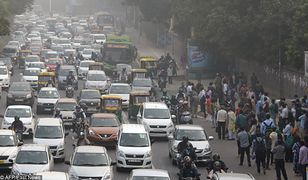 Korek w Nowym Delhi.
