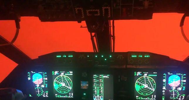 Australia płonie - skalę widać na nagraniu z kabiny pilotów