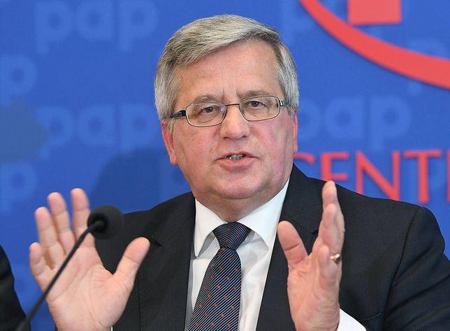 """Bronisław Komorowski: """"Politycy okazali się frajerami w świetle taśm Kaczyńskiego"""""""
