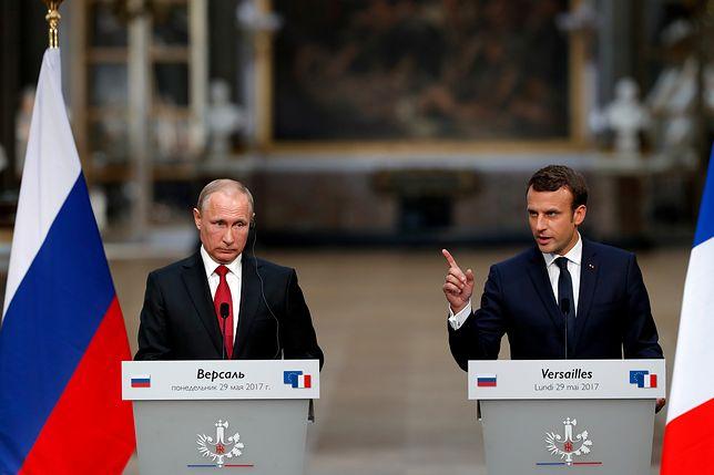 Putin uroczyście przyjęty przez Macrona. Gospodarz był wyjątkowo złośliwy