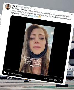 USA. Rodzina wyrzucona z samolotu, bo 2-latka nie chciała włożyć maski. Matka nagrała emocjonalne wideo