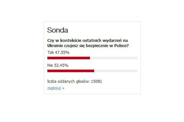 Tak rozkładają się głosy internautów biorących udział w ankiecie WP.PL