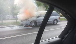 Ochota. Pożar samochodu