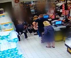 Dziecko zaczęło się dławić w sklepie. Brawurowa akcja policjanta