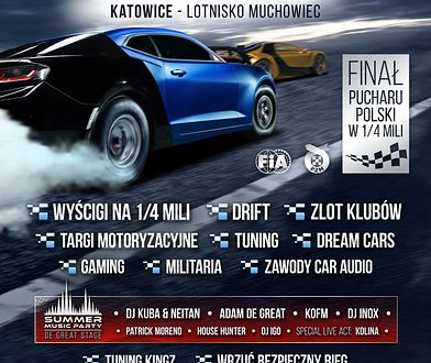 Najszybsze samochody w Polsce i nie tylko będą walczyć o Puchar Polski na dystansie ¼ mili w Katowicach