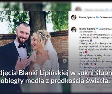 Blanka Lipińska nabrała wszystkich ze ślubem. Nie była pierwsza i ostatnia