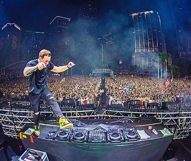 Hardwell podczas występu na Ultra Music Festival 2018 w Miami.