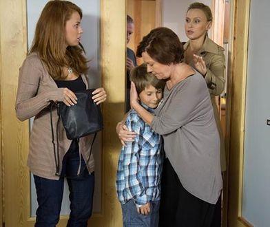 Agnieszka Kotulanka ze swoją serialową rodziną