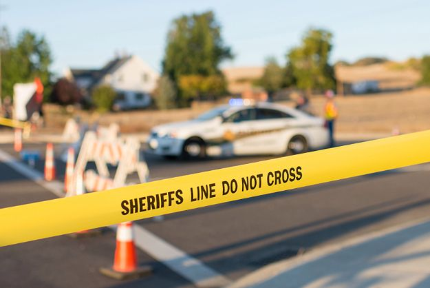 Blokada na drodze po strzelaninie w Roseburg, w Oregonie